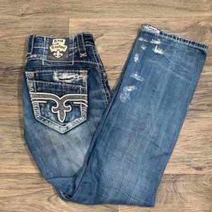 Rock Revival men's distressed denim jeans
